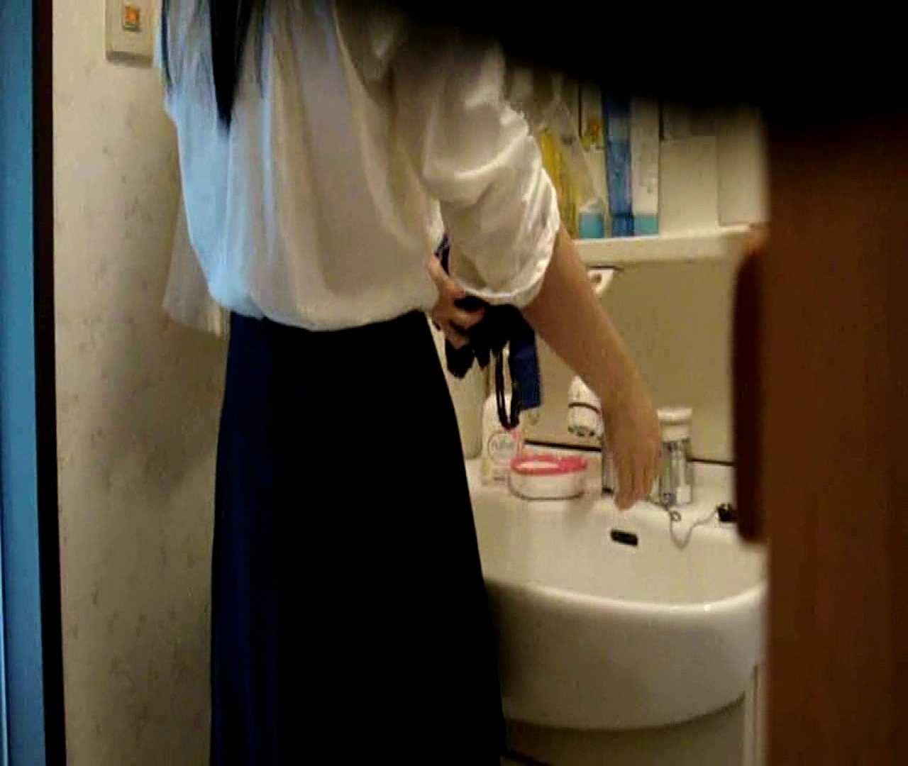 vol.5 まどかが帰宅後の洗顔後にブラを洗ってます。 OLのボディ  68PIX 16